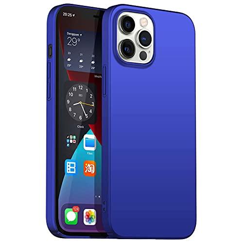 Arktis Hardcase, Polycarbonatcase kompatibel mit iPhone 12 Pro Max [kabelloses Laden] Schutzhülle Polycarbonathülle Hülle blau