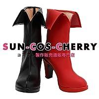 【サイズ選択可】コスプレ靴 ブーツ K-3746 バットマン Batman ハーレイ・クイン Harley Quinn 女性22.5CM