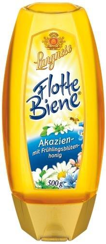 Langnese Flotte Biene Akazien-Frühlingsblüte, 4er Pack (4 x 500 g Flasche)