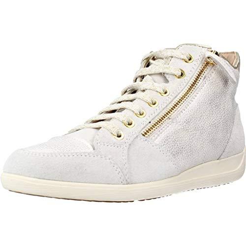 Geox Damen D Myria C Hohe Sneaker, Beige (Champagne/Off White Cb51q), 40 EU