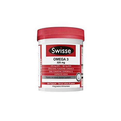 Swisse Omega 3, Integratore Alimentare, 200 Capsule, 406.6 g