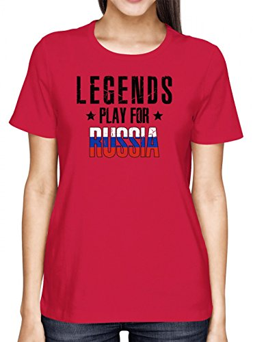 Russland Weltmeisterschaft 2018#28 Premium T-Shirt Fan Trikot Fußball WM Nationalmannschaft Frauen Shirt, Farbe:Rot (Red L191);Größe:L