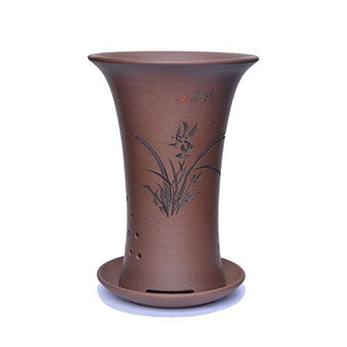 Pot de fleurs BOBE Shop Petit en céramique avec Plateau Chinois conteneur de Plante Verte en intérieur