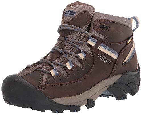 KEEN Women's Targhee 2 Mid Height Waterproof Hiking Boot, Canteen/Vintage Indigo, 7 M (Medium) US