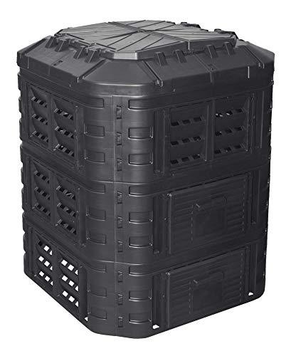 Komposter 860L aus Kunststoff, Schnellkomposter mit Belüftungssystem, modular steckbar, für ideale Zersetzung
