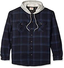 RELAXED FIT. Constructed with comfort in mind, this long sleeve quilted lined flannel shirt is a wardrobe essential for those cold Winter nights. HEAVYWEIGHT MATERIALS. Built with button cuffs and quilted polyester padding for more durability and add...