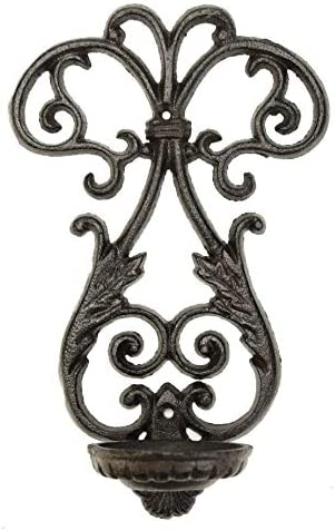 Sungmor Cast Iron Wall Hanging Sconce Tealight Pillar Candlesticks Holder Vintage Simple Style product image