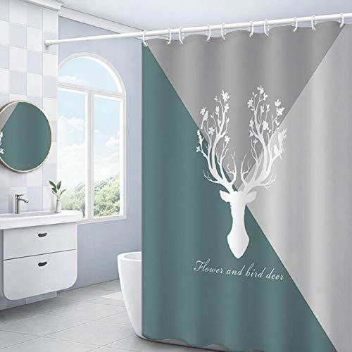 Bolo Fácil de instalar, resistente a la decoloración y la opacidad, ideal para duchas y bañeras, W150CMXL180CM