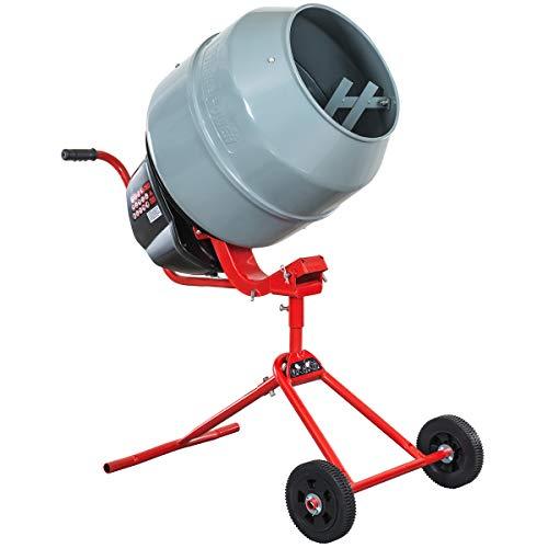 XtremepowerUS 4.6 cu/ft. Portable Electric Concrete Mixer Cement Mixing Barrow Machine Mix Mortar Handle W/Wheel 550W