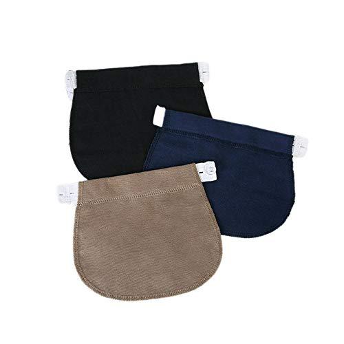 SSXCO Schwangerschafts-Taillenbandgürtel Verstellbare elastische Taillenverlängerungs-Bekleidungshose für Schwangere, Schwarze, Russische Föderation