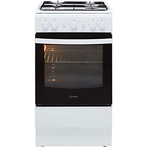 Indesit IS5G1KMW Freestanding Gas A Rated Cooker -White