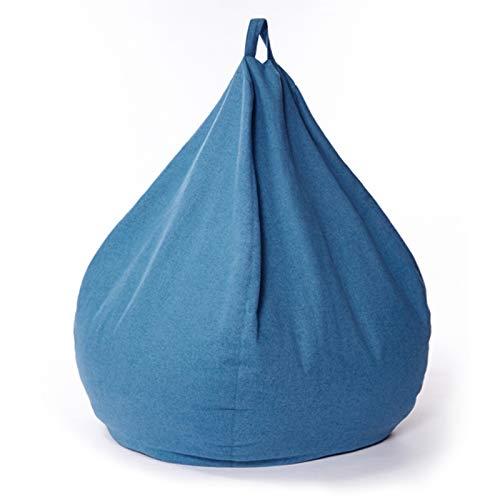 AMGJ Funda para Sillón Puff(sin Relleno), Fundas de Puff Pera Cubierta para Sofá Perezoso para Adultos, Niños, Adolescentes,Azul,70x80cm