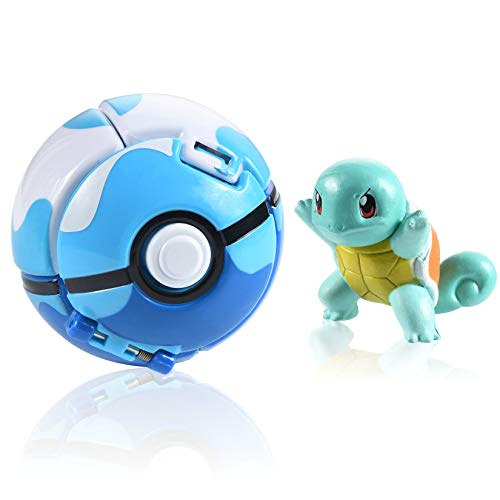 OMZGXGOD Poké Ball,Pokeball mit Figur,Pokemon bälle zum werfen,Pokémon Poké Ball Pokeball, Pokemon Mini Figurines Pour Enfants et Adultes Party Celebration Fun Toy Game Gift