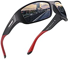 PUKCLAR Polarized Sports Sunglasses for Men Women Running Cycling Fishing Driving Golf Tr 90 Unbreakable Frame