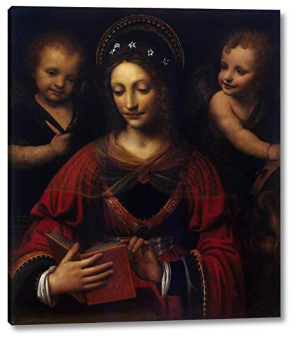 "Saint Catherine by Bernardino Luini - 14"" x 16"" Gallery Wrap Canvas Art Print - Ready to Hang"
