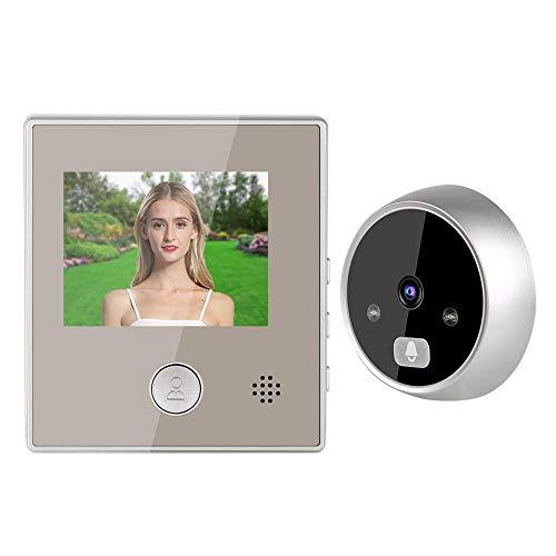 AMONIDA Sistema de Control de videoportero Gran Angular de 150 Grados, videoportero, Edificios públicos duraderos con Zoom Digital 3X para oficinas bancarias en casa