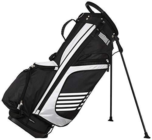 Amazon Basics - Bolsa de golf con caballete, color Negro