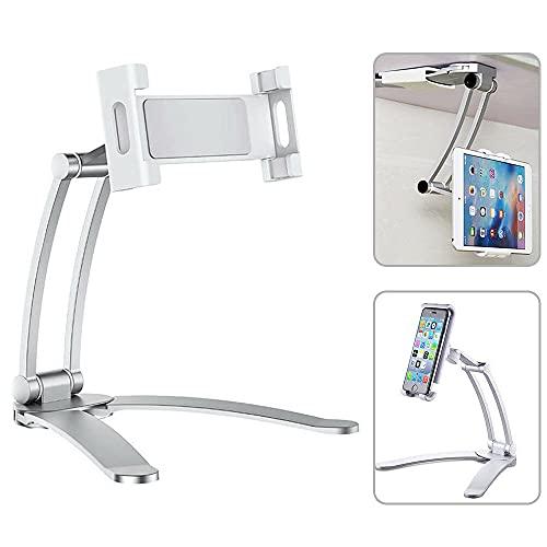 ist Präfekt für Streaming / Podcasting / Gaming Desktop-Pull-up-Telefon-Tablet-Halter-Ständer 2 in 1 flexible faule Stretch-Halterung einstellbar 360 rotierender Halterung für Wohnküche