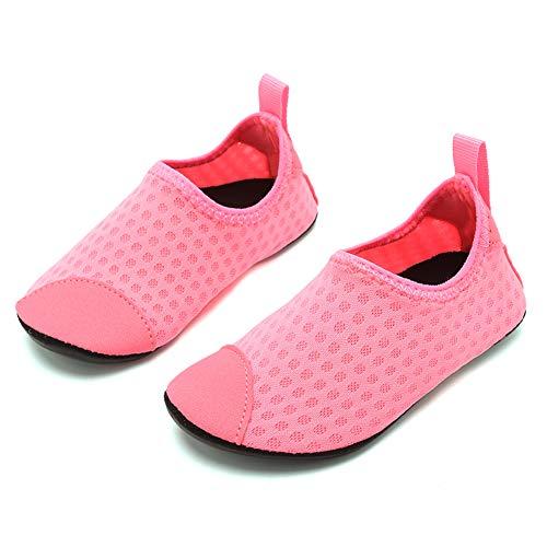 Coolloog Toddler Water Shoes Kids Summer Swim Shoes Comfortable Walking Shoes Pink 5-5.5 M US Toddler