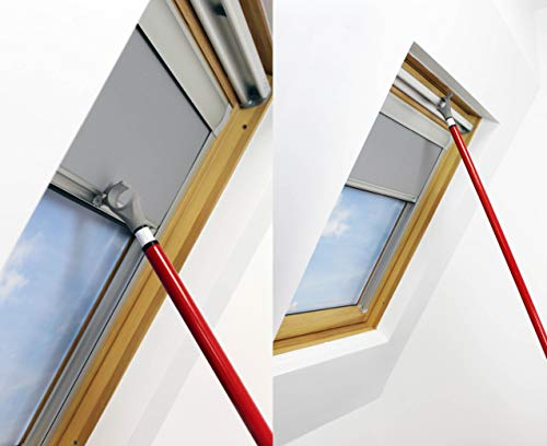 WINDOW POLE ROD OPENER FOR VELUX WINDOWS AND BLINDS 1.2M - 3M