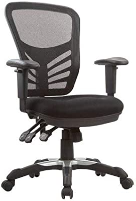 Manhattan Comfort Governor Collection Modern Comfortable High Back Mesh Adjustable Swivel Office Chair, Black