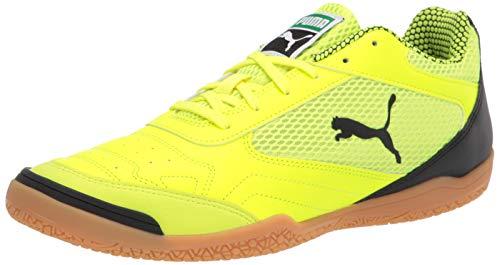 PUMA Men s 10644503 Futsal Shoe, Yellow Alert Black-Gum, 10.5