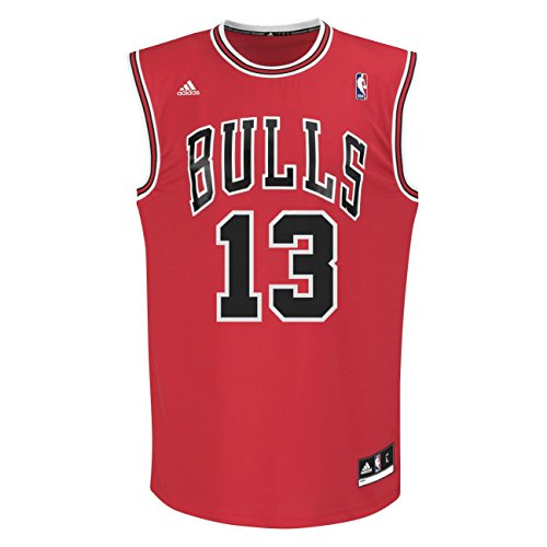 adidas Bekleidung Basketball Trainings INT Fanshop Trikot 13 Camiseta de Manga Corta, Hombre, Multicolor-NBA Chicago Bulls 1, Medium
