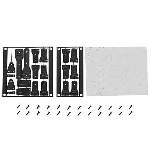 ADUCI 1set Bisagra de la Puerta de la Puerta Trasera para 1/10 Axial SCX10 III AXI03007 Jeep Wrangler (Color : Negro)