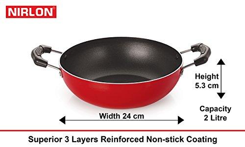 Nirlon Non-Stick Aluminium Cookware Set, 5-Pieces, Multicolour (2.6mmFT12FP12KD13TPV)
