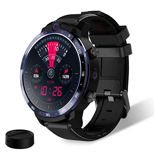 ZHEBEI 1.6 pulgadas pantalla dual cámara LTE 4G reloj inteligente Android 3GB 32GB 900mah batería banco de energía blackwithbank