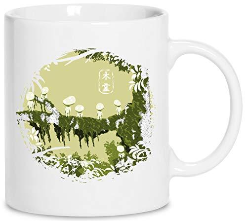 Kodamas - Princesa Mononoke Cerámica Blanco Taza Cup Mug