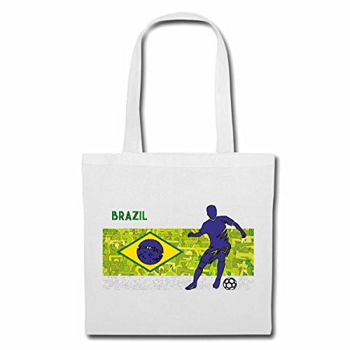 Tasche Umhängetasche Brasil BRASILIEN Fussball Football Deutschland Germany Weltmeister Europameister Frankreich Viertelfinale Halbfinale Finale Europameisterschaft Einkaufstasche Schulbeutel Turn