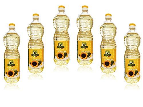 """6pz - Olio di Semi di Girasole """"Vittoria"""" - Bottiglia Pet da 1 Litro 1lt 1000ml - 6 Pezzi"""