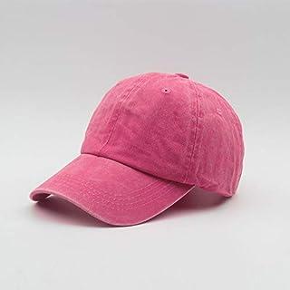 لينة أعلى قبعة قبعة الصيف في الهواء الطلق ذروة غسل قبعة بيسبول قبعة رعاة البقر القديمة 玫红色