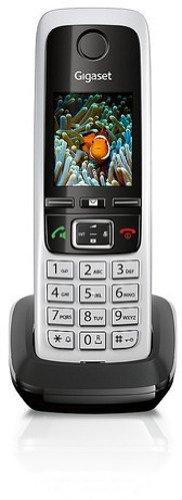 Gigaset C430H Schnurlostelefon (4,6 cm (1,8 Zoll) TFT-Farbdisplay, Dect-Telefon, Freisprechen) schwarz/silber