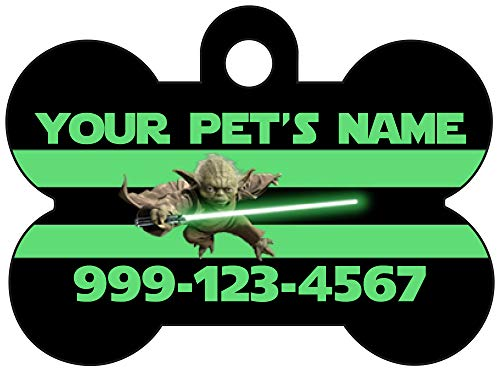 Disney Star Wars Yoda Dog Tag Pet Id Tag Personalized w/ Name & Number