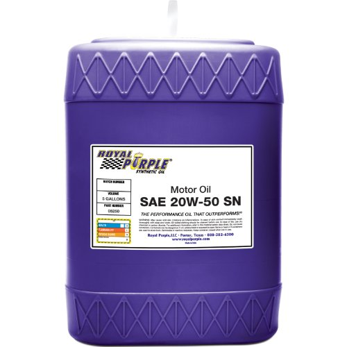 Royal purple 05250 api licensed sae 20w 50 high for Motor oil api rating