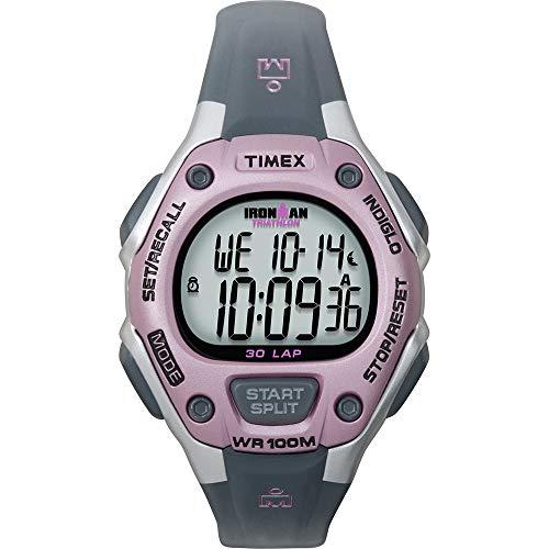 Timex Ironman T5K020JV, orologio da 30 giri di medie dimensioni, colore: rosa/grigio