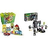 LEGO Duplo Classic Duplo Classic Ladrillos Deluxe, Set De Construcción con Caja De Almacenaje+10919DuploSuperHeroesBatcueva,JugueteDeConstrucciónparaNiños+2AñosconMiniFigurasDeBatman