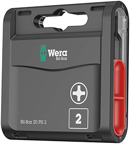Wera Bit-Box 20 H PH2 Extra Hard bits for drill/drivers, 25mm, 20pc pack, 05057750001