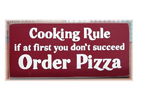 Koken regel als in eerste instantie je niet Suceed Bestel Pizza Primitieve Rustieke Houten Plank Hangende Teken