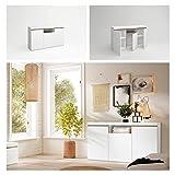 Fabrikit Mueble aparador Elis salón Comedor despacho Color Blanco Mate y Naturale 3 Puertas 1 Hueco 81x140x40 cm