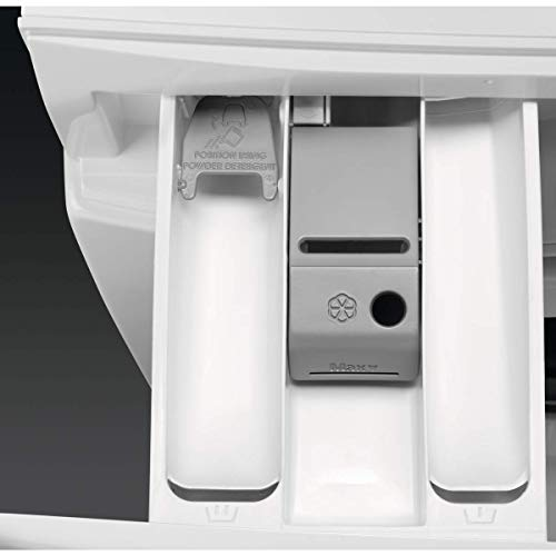 AEG L6FBI824U Lavadora de Libre Instalación, Carga Frontal, 8 Kg / 1200 rpm, Serie 6000, Programa Rápido, Panel de control Blanco, Puerta XL Plata, Blanco, A+++