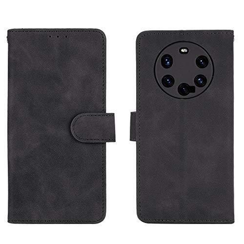 GOGME Leather Folio Cover per Huawei Mate 40 PRO Plus Cover, PU + TPU Leather Wallet Case, Premium Filp Cover Custodia in Pelle Portafoglio con Funzione Stand, Nero