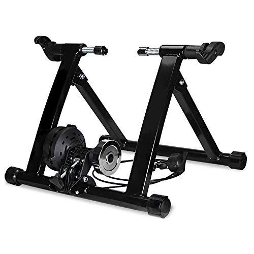 Klevsoure 26-28 Zoll Fahrrad-Radhalterung, Trainingsstation, Indoor-Training, Fahrrad-Trainer, Drahtsteuerung, Fitness-Halterung (schwarz)