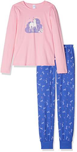 Sanetta Sanetta Mädchen Pyjama Long Zweiteiliger Schlafanzug, Rosa (Scampi 3950), 92 (Herstellergröße: 092)