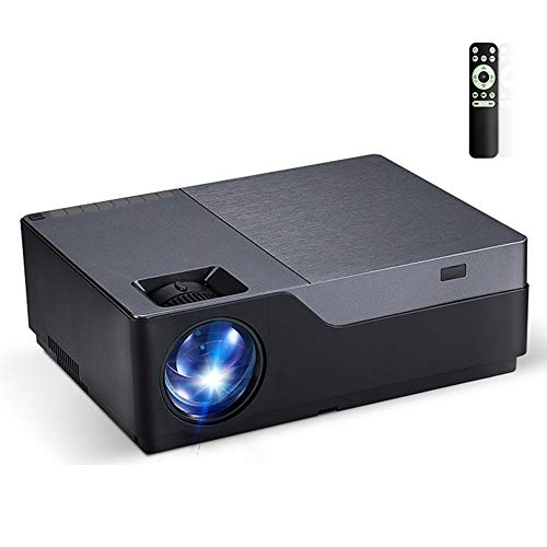 Proyector MBGT M18UP 5,8 pulgadas de pantalla LCD de 5500 lúmenes 1920x1080P completa proyector SMART HD con control remoto, Android 6.0, 1 GB + 8 GB, soporte VGA / HDMI tarjeta / SD / USB (Negro)