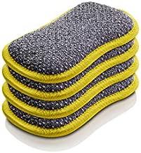 E-Cloth Washing Up Pad, Microfiber Sponge Alternative, Yellow, 4 Pack