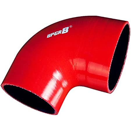 Upgr8 Universal 4-Ply High Performance 90 Elbow Degree Coupler Silicone Hose , Red 51MM 2.0