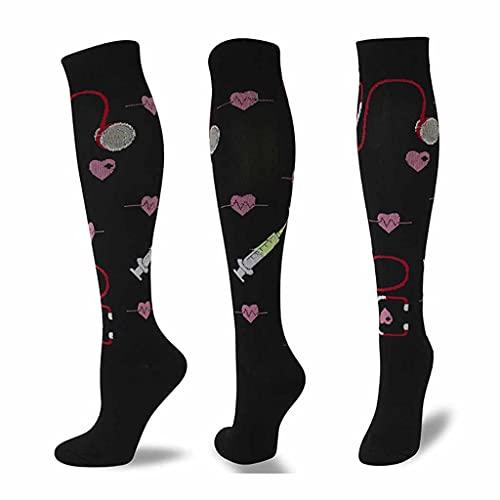 XJJZS Medias de compresión Menwomen Corrección de piernas Presión Ejercicio Calcetines de compresión (Color : D, Size : Small)